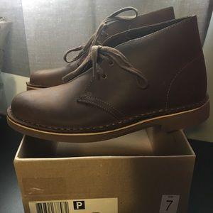 Clarks Acre Ridge Boots Size 7 Leather